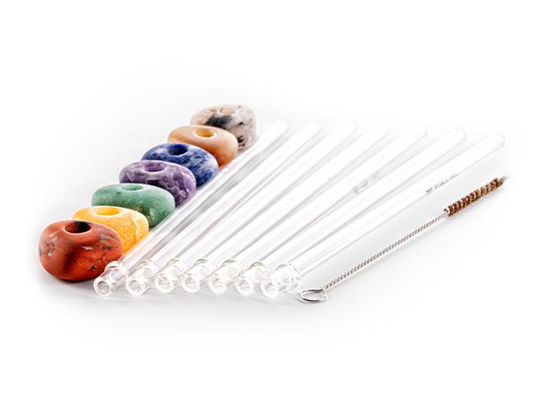 vitajuwel crystal straws glass straw all 7 chakras set