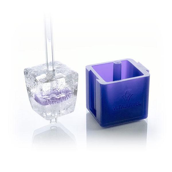 vitajuwel crystal glass straws ice cube eiswürfelform für glas trinkhalm