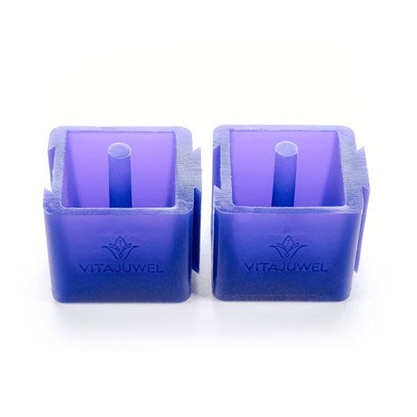 vitajuwel crystal glass straws eiswürfelform für edelsteine als paar