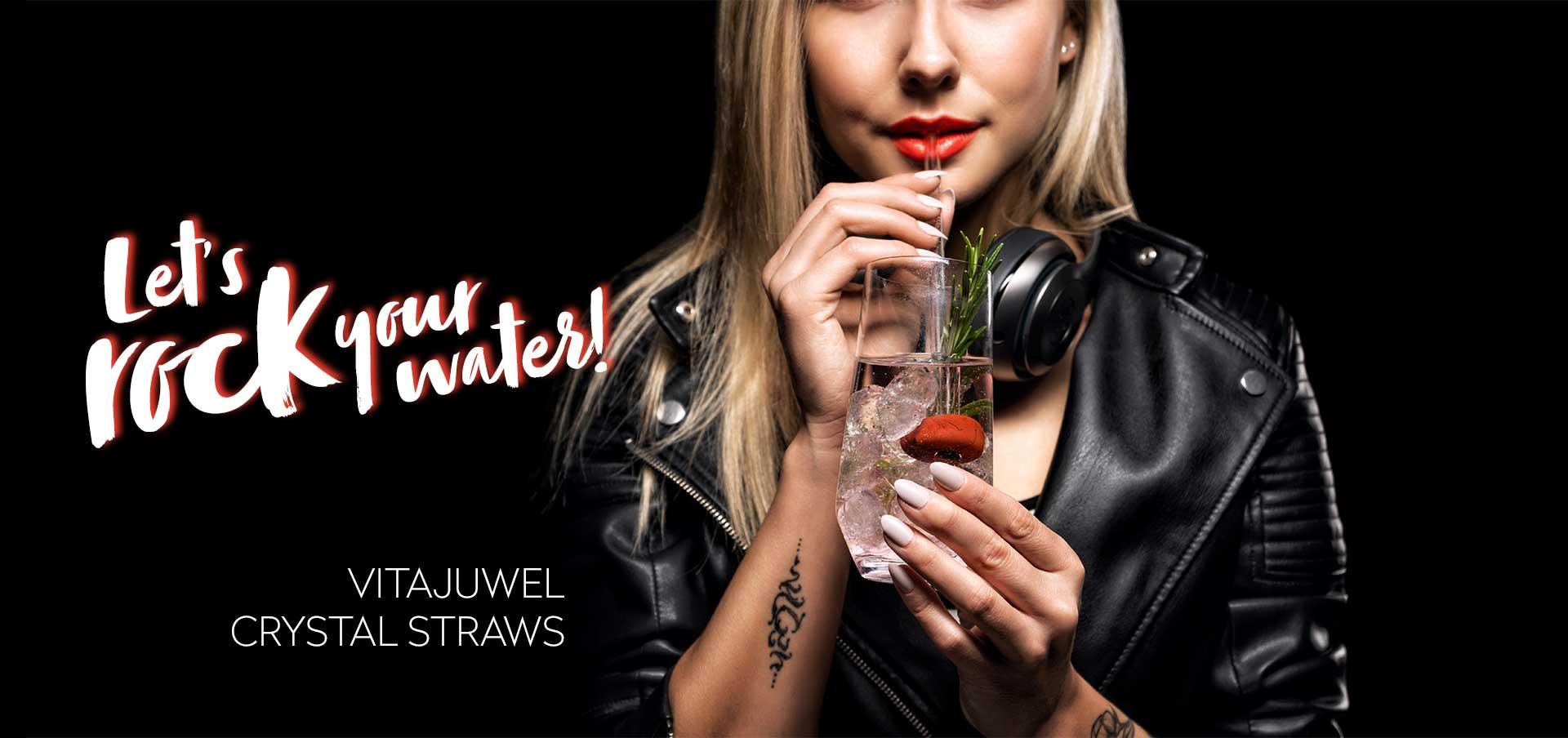 vitajuwel crystal straws glas trinkhalm mit edelstein ökologisch für gesundes wasser