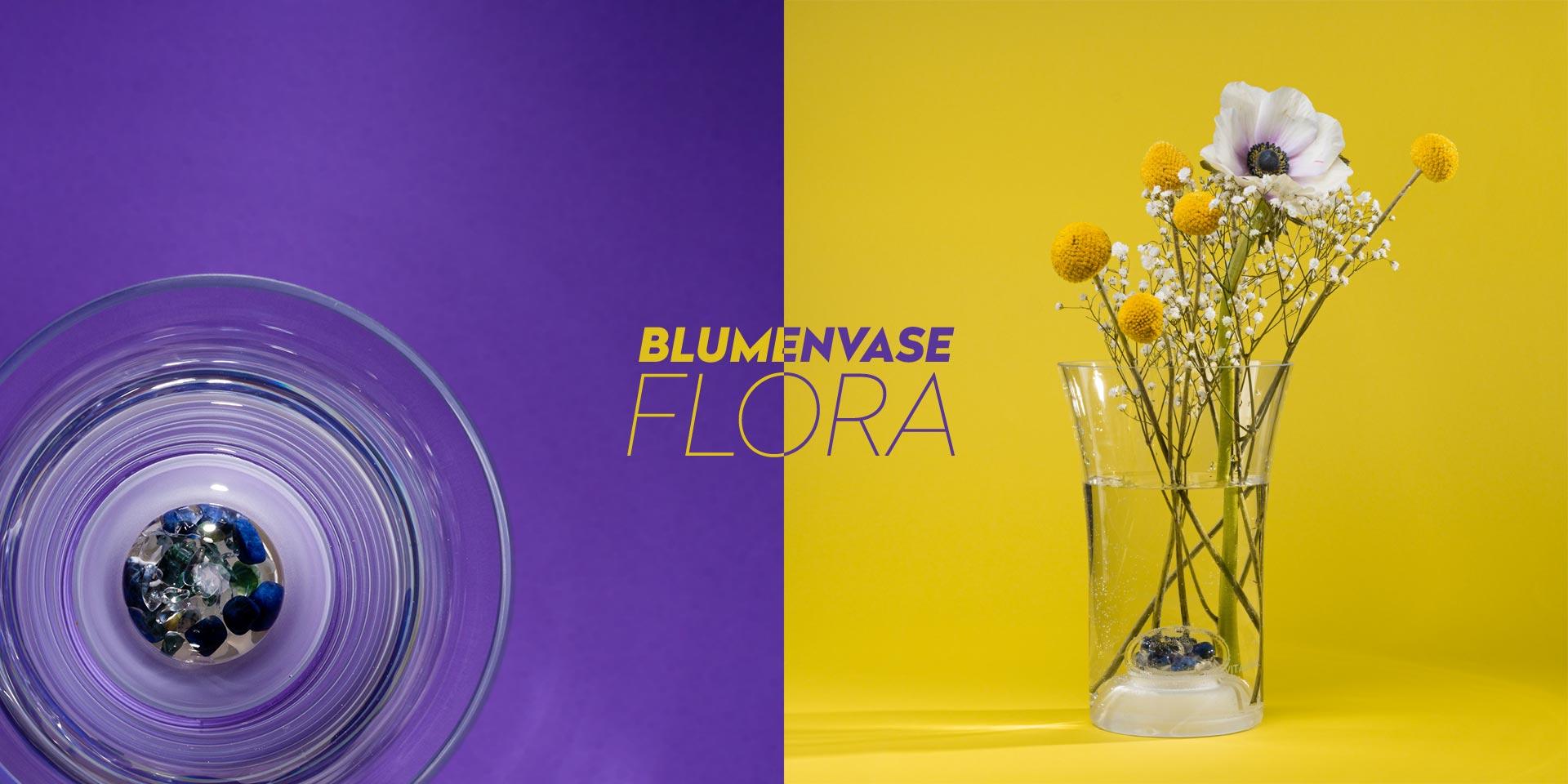vitajuwel blumenvase flora glas edelsteine