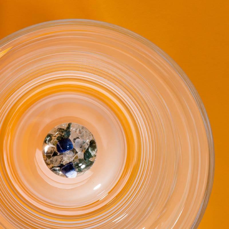 vitajuwel flower vase gemstones pod sodalite moss agate clear quartz