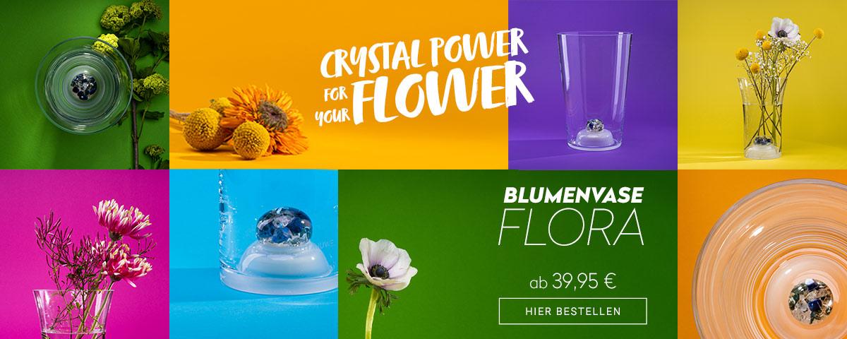 vitajuwel crystals blumenvase flora glasvase mit edelsteinen