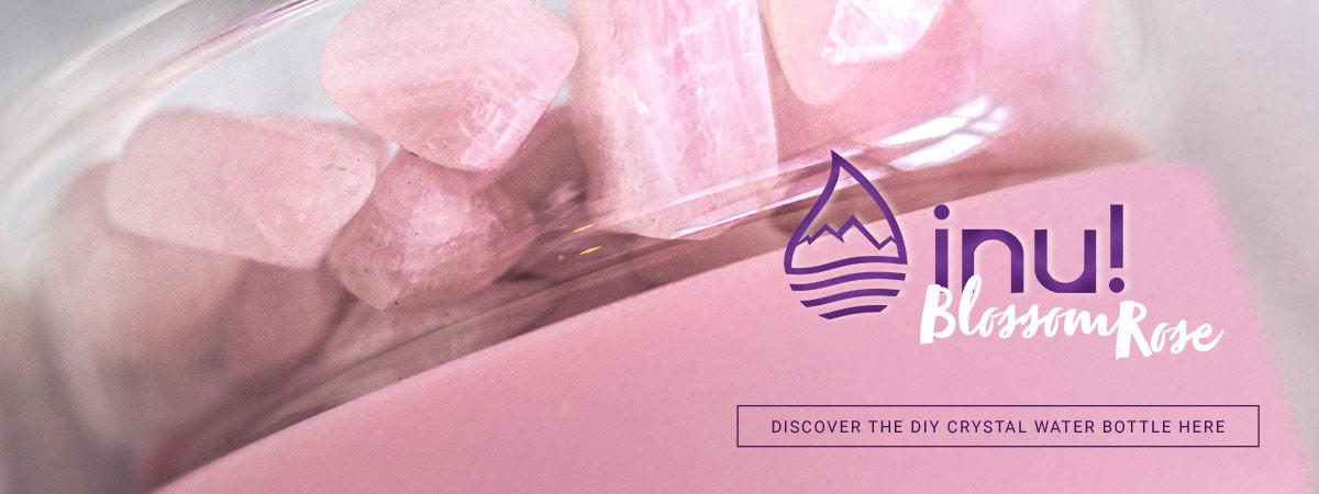 vitajuwel inu diy crystal water bottle blossom rose good vibes