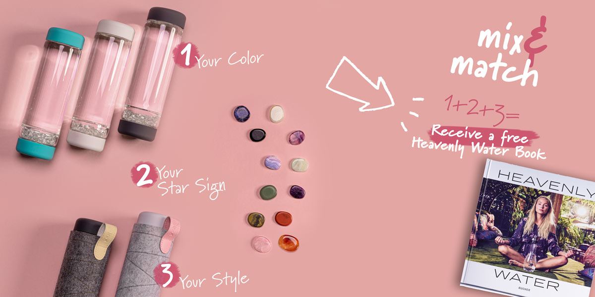 inu! diy bottle mix and match glass bottle with gem stones