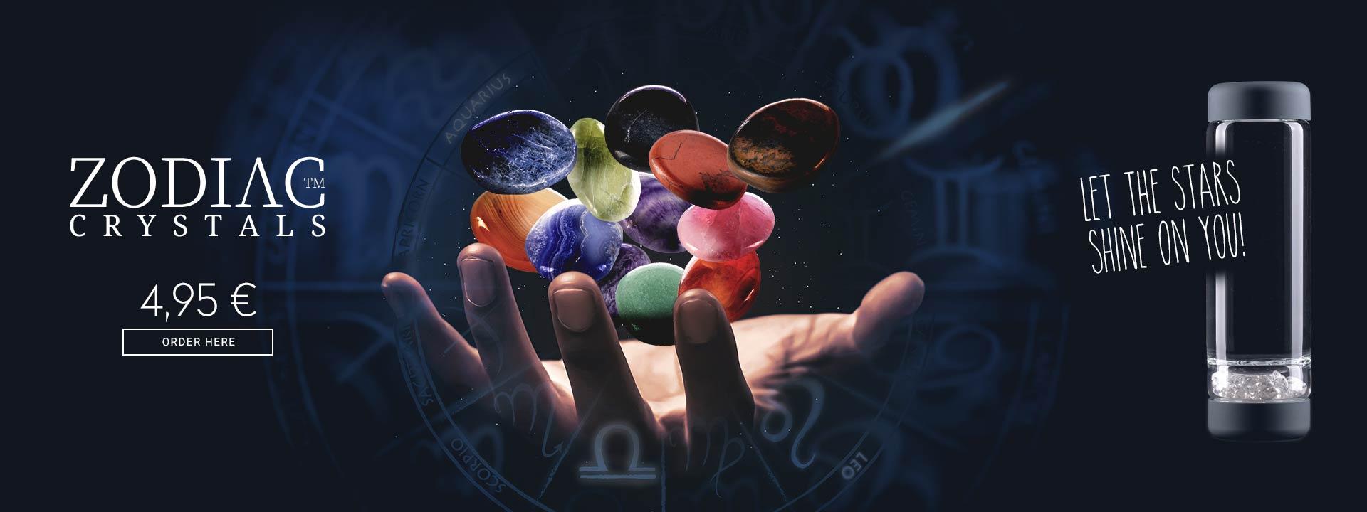 vitajuwel inu diy crystal water bottle astro stones zodiac crystals